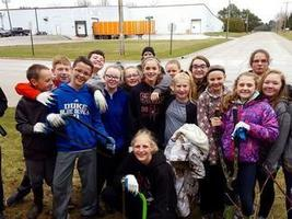 Mishicot Students Clear Invasive Honeysuckle